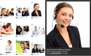 A commonly found microstock image